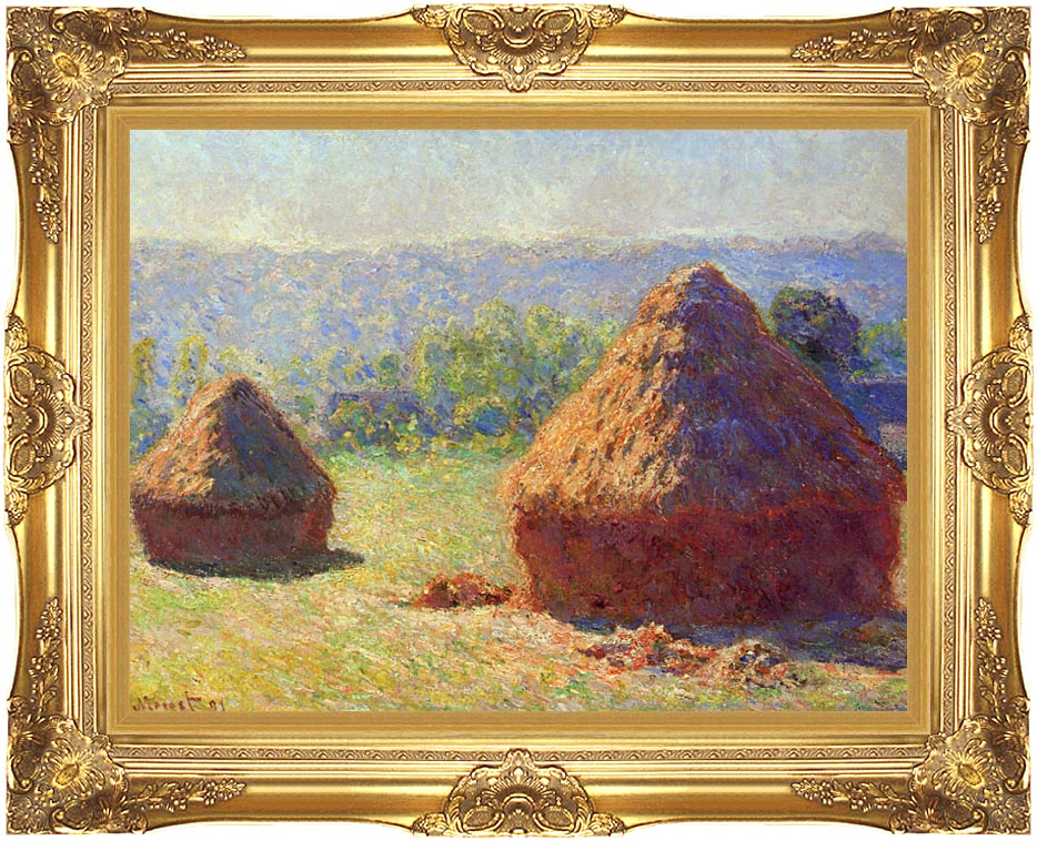 Claude Monet Grainstacks with Majestic Gold Frame