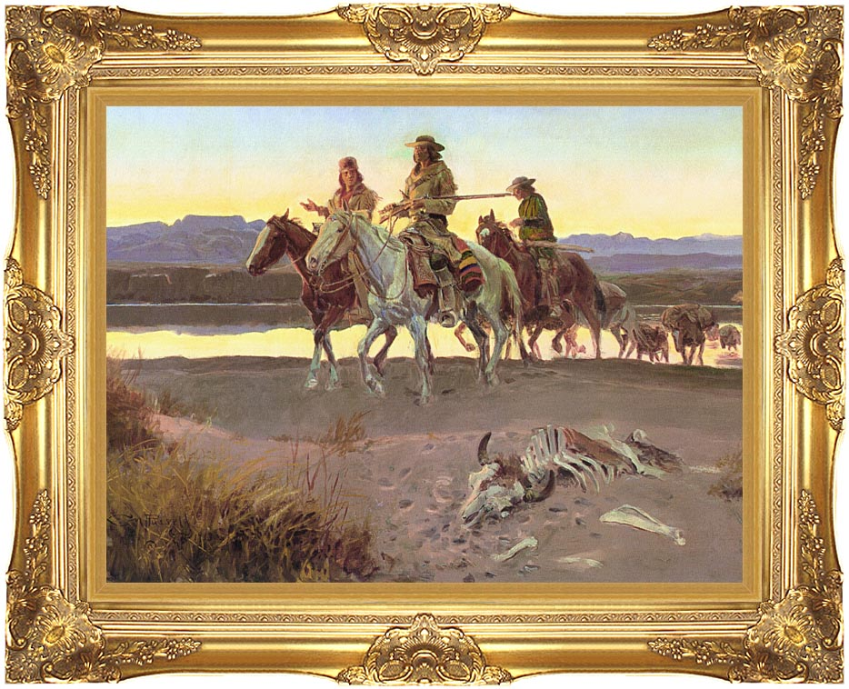 Charles Russell Carson's Men with Majestic Gold Frame
