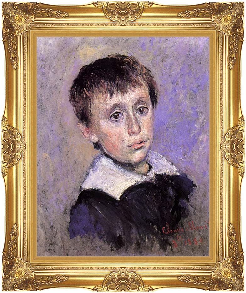 Claude Monet Jean Monet with Majestic Gold Frame