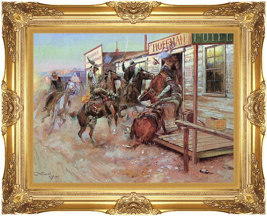Charles Russell In Without Knocking with Majestic Gold Frame