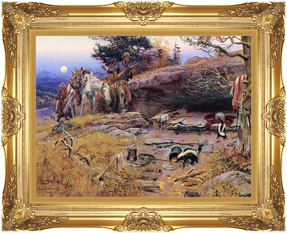 Charles Russell Man's Weapons are Useless when Nature Goes Armed with Majestic Gold Frame