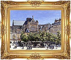 Claude Monet Saint Germain Lauxerrois canvas with Majestic Gold frame