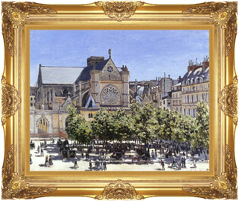 Claude Monet Saint Germain l'Auxerrois with Majestic Gold Frame