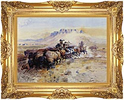 Charles Russell Redmans Meat canvas with Majestic Gold frame