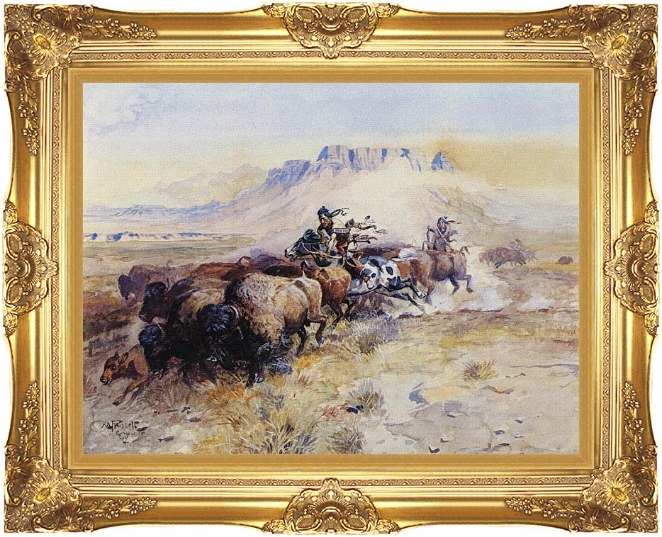 Charles Russell Redman's Meat with Majestic Gold Frame