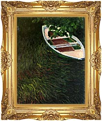 Claude Monet The Empty Boat canvas with Majestic Gold frame