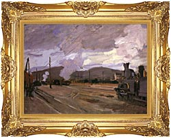 Claude Monet The Gare Dargenteuil canvas with Majestic Gold frame