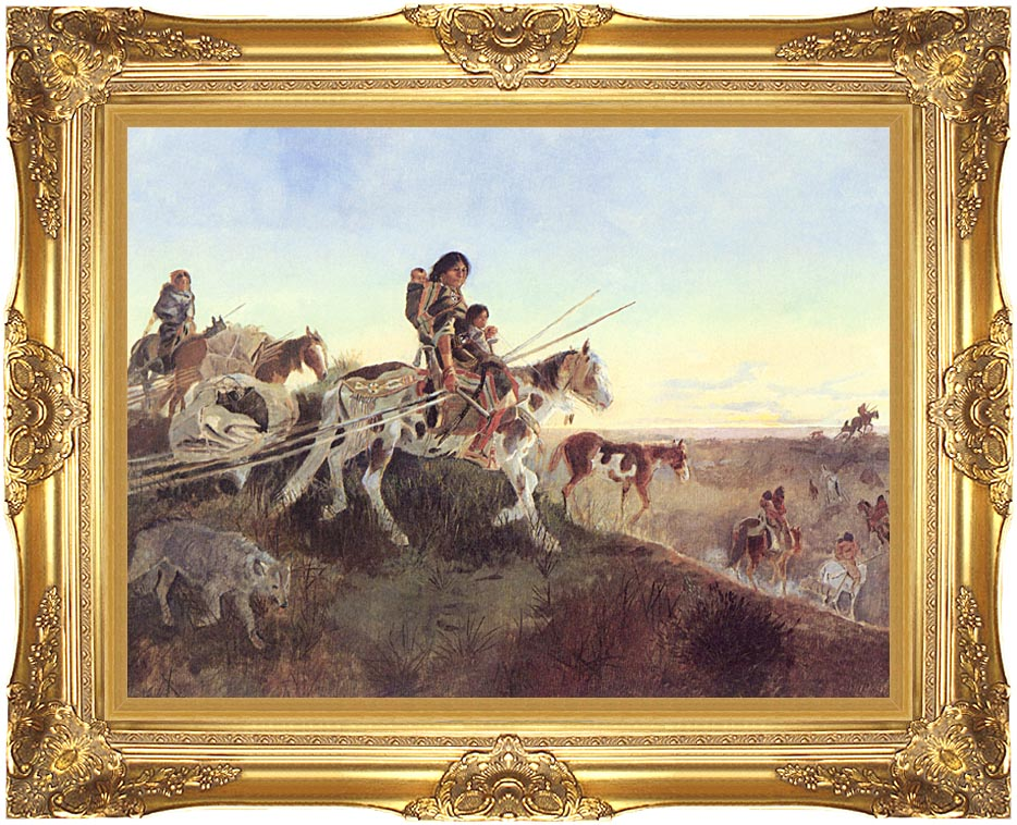 Charles Russell Seeking New Hunting Grounds with Majestic Gold Frame