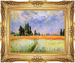 Claude Monet The Wheat Field canvas with Majestic Gold frame