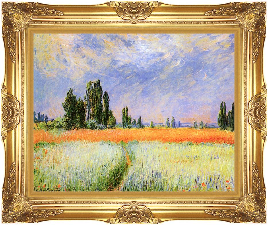Claude Monet The Wheat Field with Majestic Gold Frame