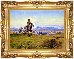 Charles Russell The Romance Makers canvas with Majestic Gold frame