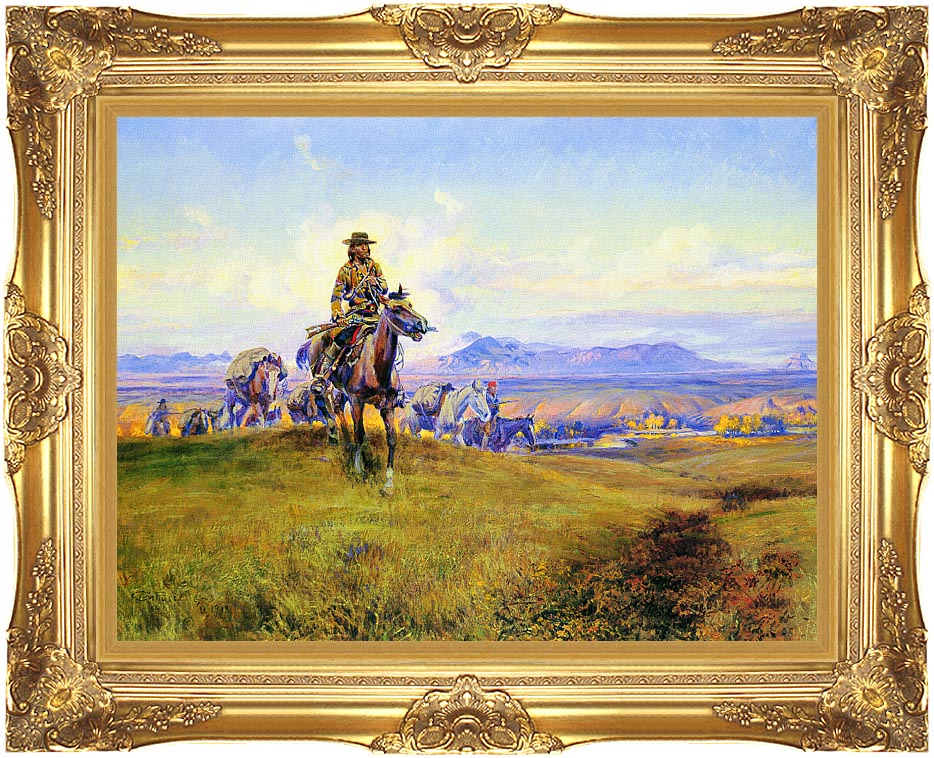 Charles Russell The Romance Makers with Majestic Gold Frame