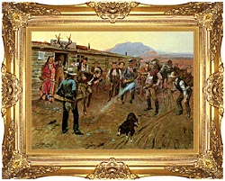 Charles Russell The Tenderfoot canvas with Majestic Gold frame