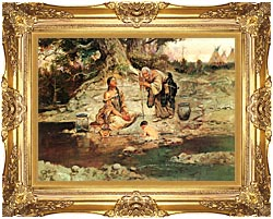Charles Russell Three Generations canvas with Majestic Gold frame
