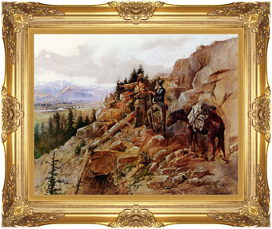 Charles Russell Trouble on the Horizon with Majestic Gold Frame