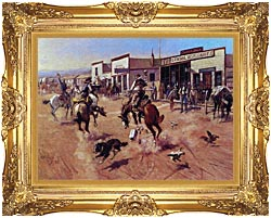 Charles Russell Utica canvas with Majestic Gold frame