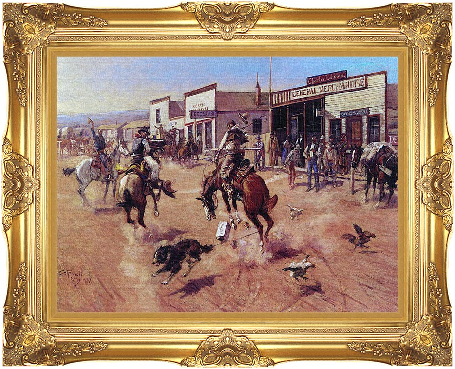Charles Russell Utica with Majestic Gold Frame