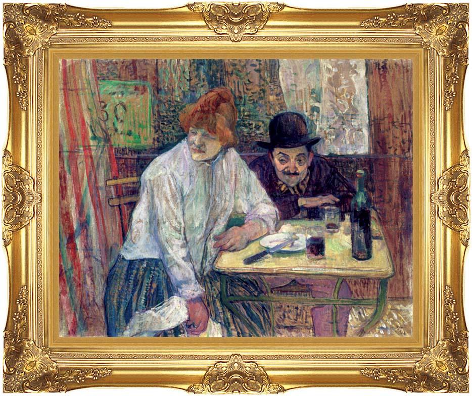 Henri de Toulouse Lautrec A La Mie with Majestic Gold Frame