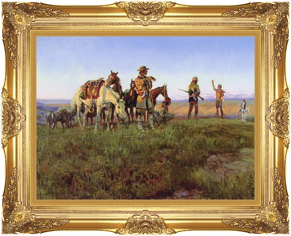 Charles Russell Wildman's Truce with Majestic Gold Frame