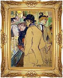 Henri De Toulouse Lautrec Alfred La Guigne canvas with Majestic Gold frame