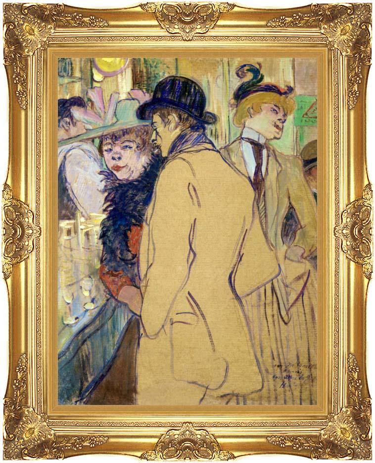 Henri de Toulouse Lautrec Alfred la Guigne with Majestic Gold Frame