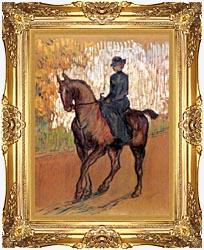 Henri De Toulouse Lautrec Amazone canvas with Majestic Gold frame