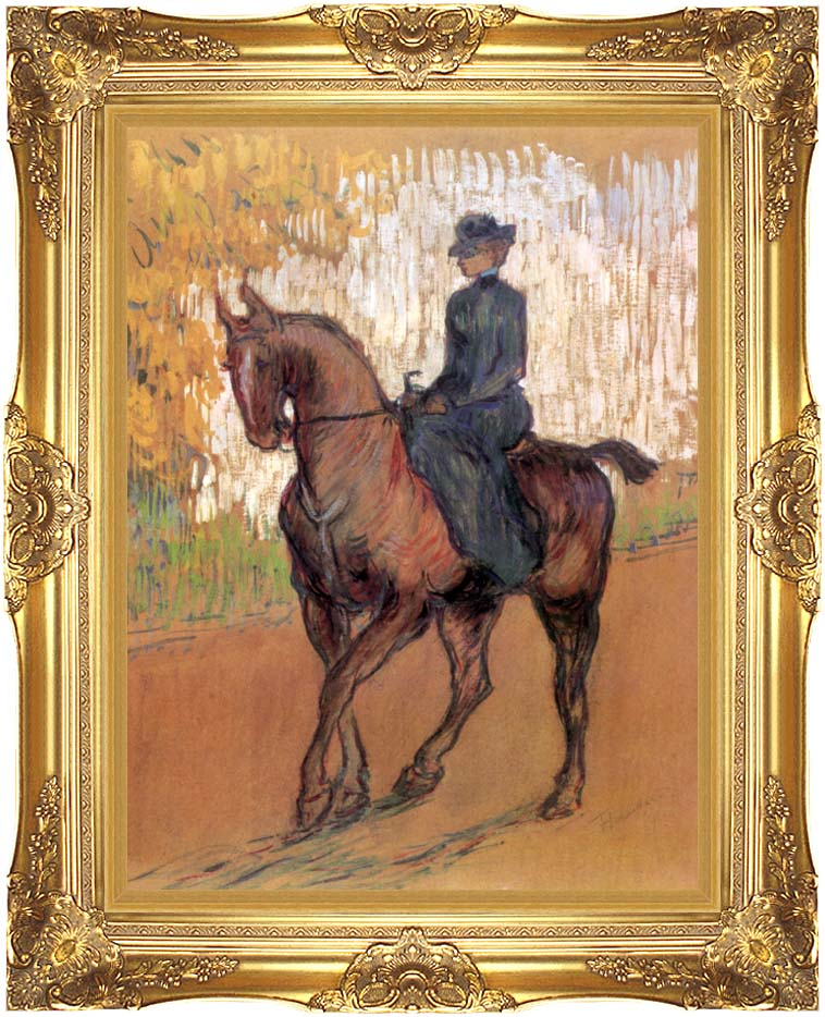 Henri de Toulouse Lautrec Amazone with Majestic Gold Frame