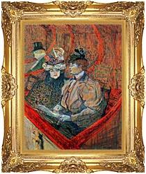 Henri De Toulouse Lautrec La Grande Loge canvas with Majestic Gold frame