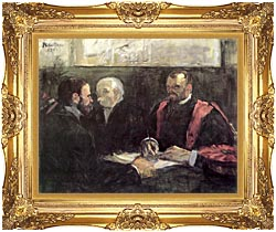 Henri De Toulouse Lautrec An Examination At The Faculty Of Medicine Paris canvas with Majestic Gold frame