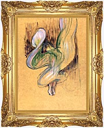 Henri De Toulouse Lautrec Loie Fuller canvas with Majestic Gold frame