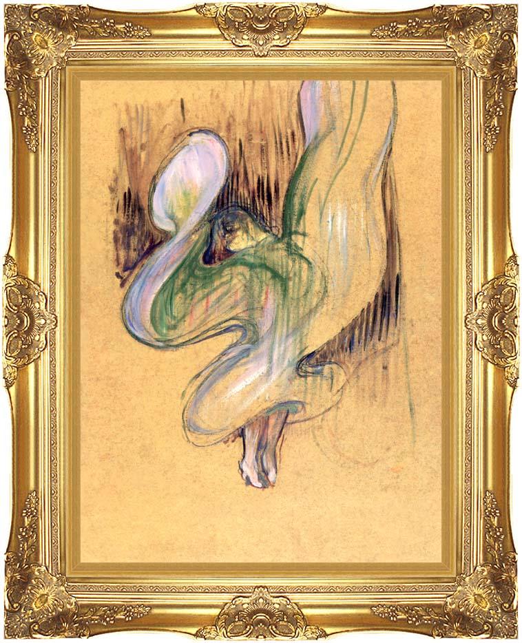 Henri de Toulouse Lautrec Loie Fuller with Majestic Gold Frame