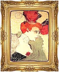 Henri De Toulouse Lautrec Marcelle Lender canvas with Majestic Gold frame