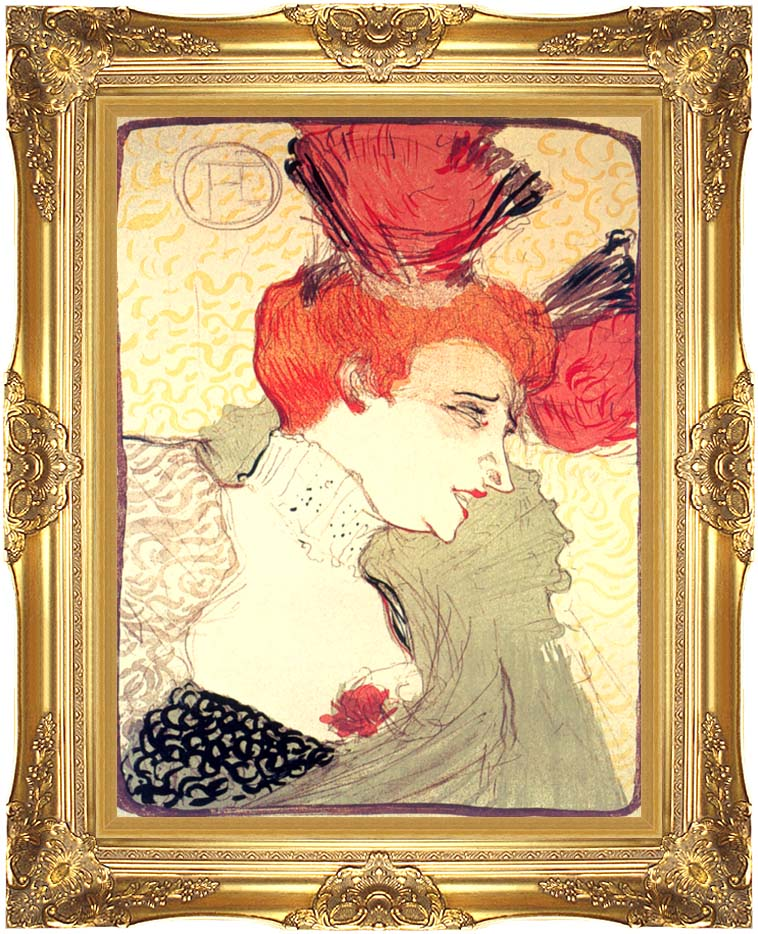 Henri de Toulouse Lautrec Marcelle Lender with Majestic Gold Frame