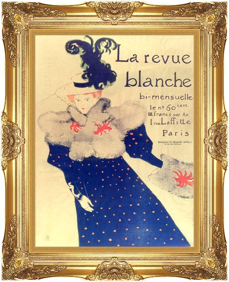Henri de Toulouse Lautrec Misia Natanson Poster for la Revue Blanche with Majestic Gold Frame