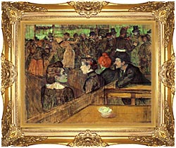 Henri De Toulouse Lautrec The Moulin De La Galette canvas with Majestic Gold frame