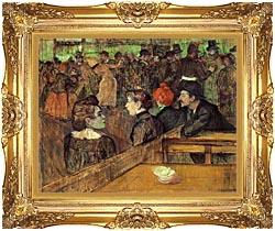 Henri De Toulouse Lautrec The Moulin De La Galette canvas with Majestic Gold frame