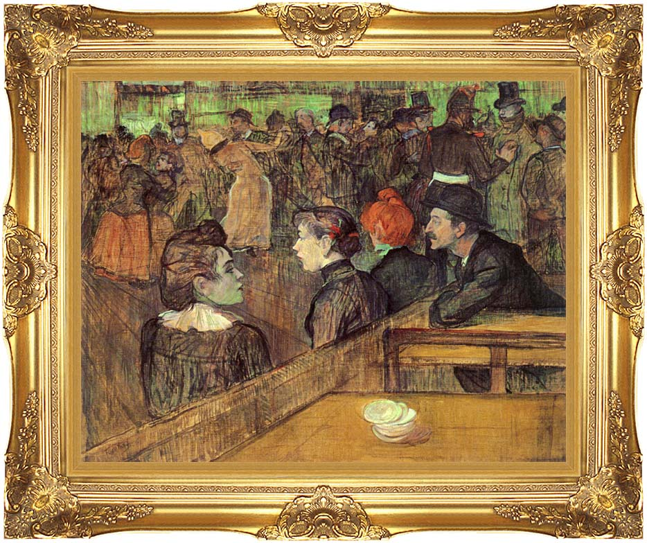 Henri de Toulouse Lautrec The Moulin de la Galette with Majestic Gold Frame