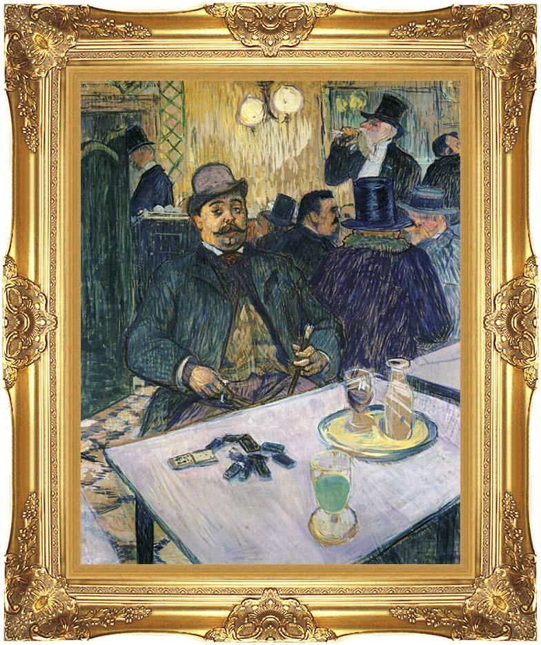 Henri de Toulouse Lautrec Monsieur Boileau with Majestic Gold Frame