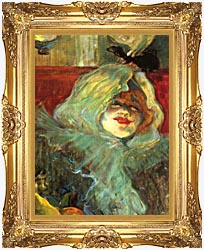 Henri De Toulouse Lautrec At The Rat Mort Detail canvas with Majestic Gold frame