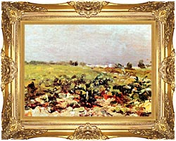 Henri De Toulouse Lautrec Celeyran View Of The Vineyards canvas with Majestic Gold frame