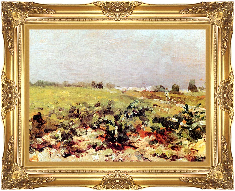 Henri de Toulouse Lautrec Celeyran View of the Vineyards with Majestic Gold Frame