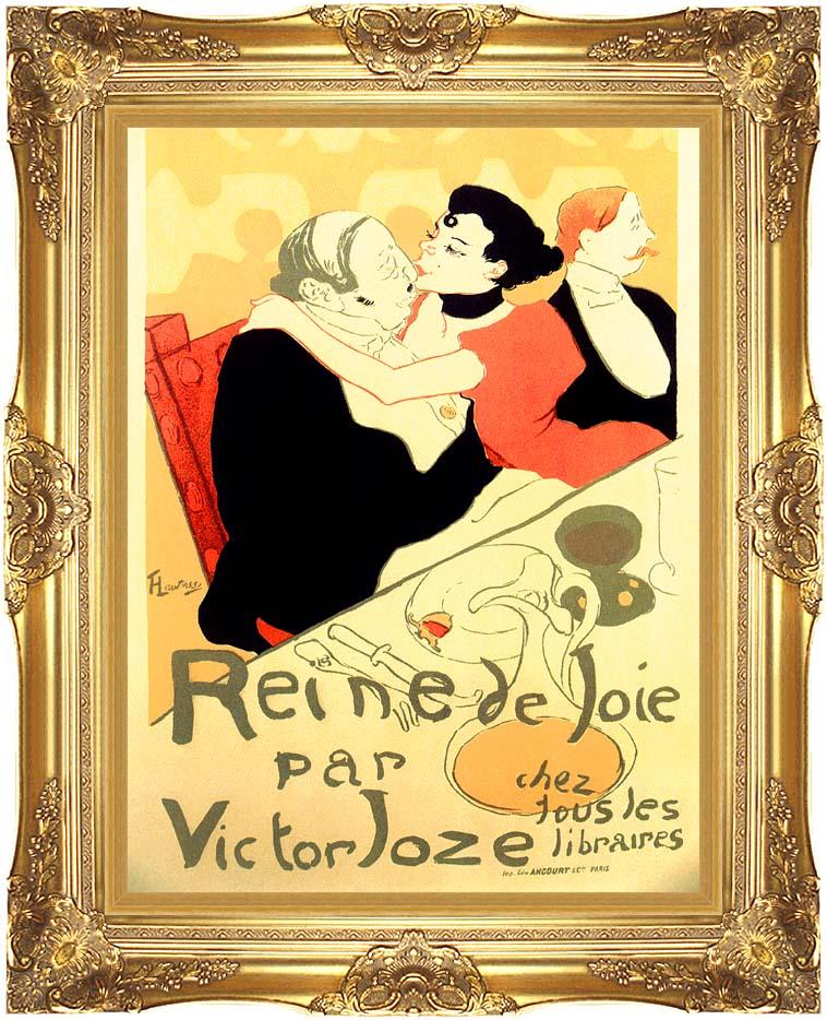 Henri de Toulouse Lautrec Reine de Joie par Victor Joze with Majestic Gold Frame