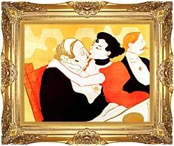 Henri De Toulouse Lautrec Reine De Joie Par Victor Joze Detail canvas with Majestic Gold frame