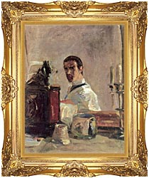 Henri De Toulouse Lautrec Henri De Toulouse Lautrec Self Portrait canvas with Majestic Gold frame