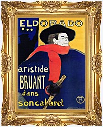 Henri De Toulouse Lautrec Eldorado Aristide Bruant canvas with Majestic Gold frame