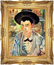 Henri De Toulouse Lautrec Study For A Young Routy canvas with Majestic Gold frame