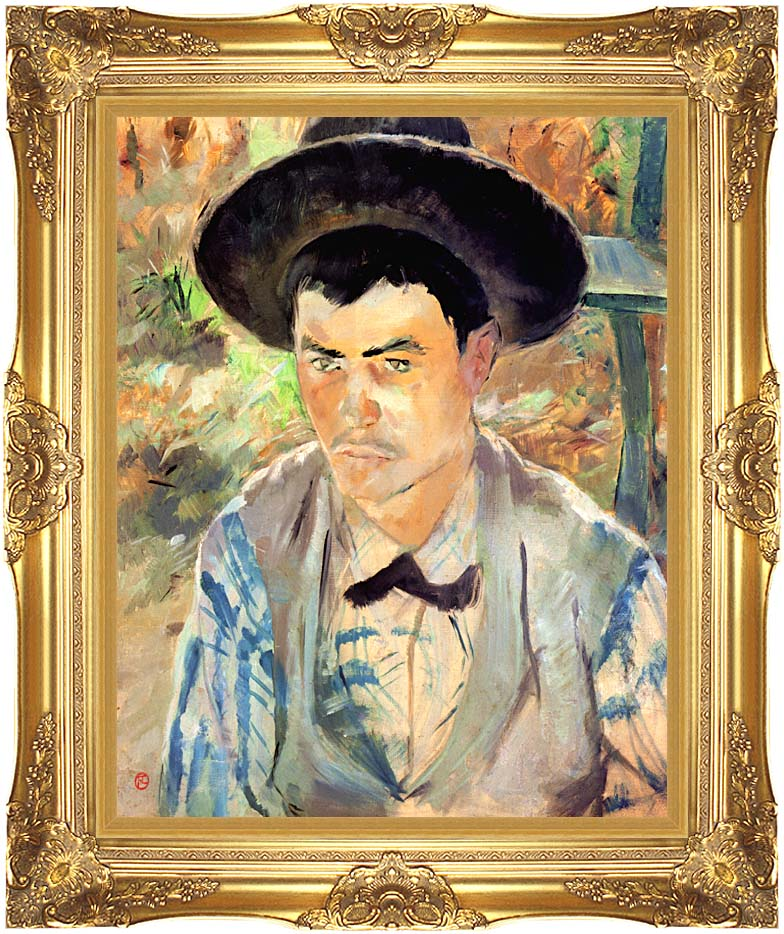 Henri de Toulouse Lautrec Study for a Young Routy with Majestic Gold Frame