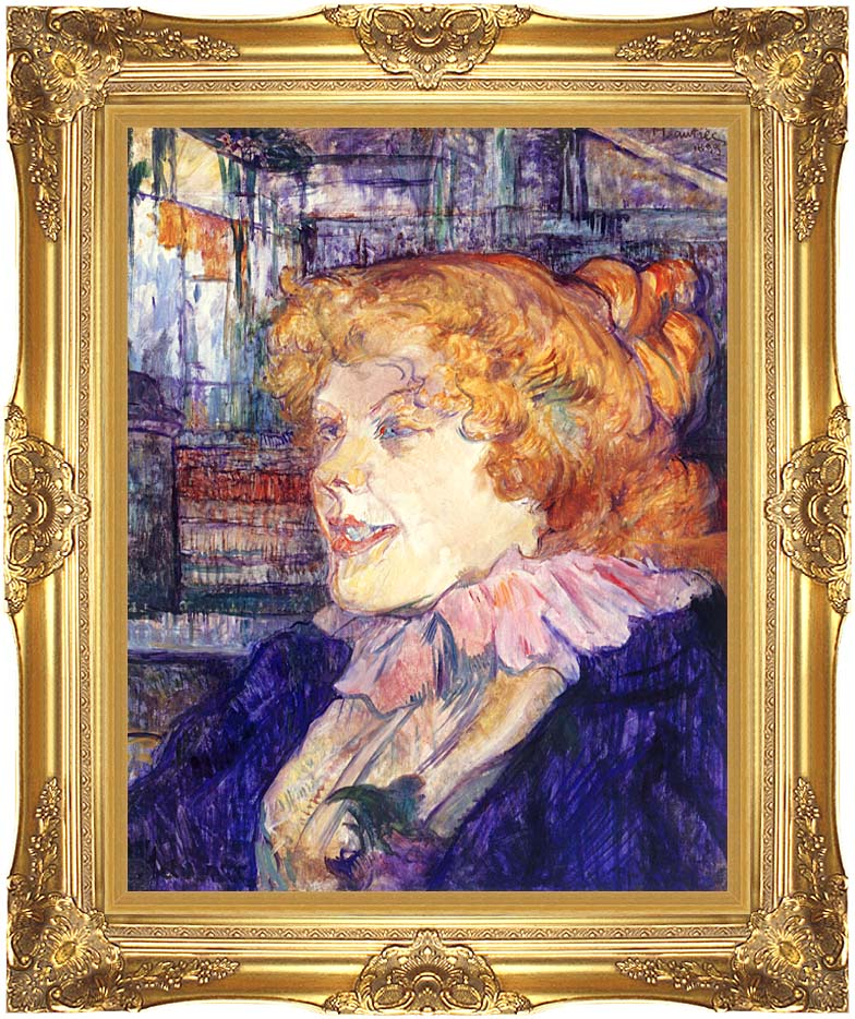 Henri de Toulouse Lautrec The English Girl at the Star in le Havre with Majestic Gold Frame
