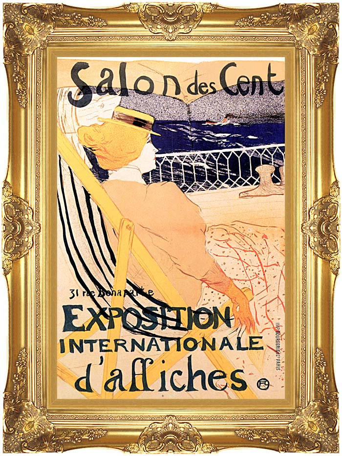 Henri de Toulouse Lautrec The Passenger in Cabin 54 with Majestic Gold Frame
