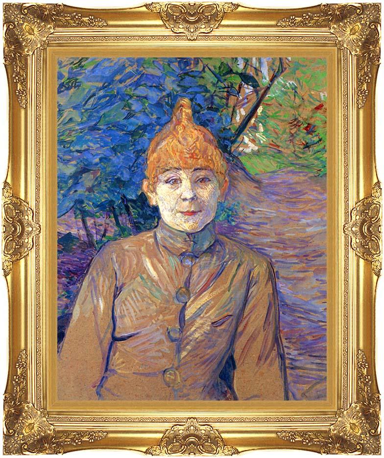 Henri de Toulouse Lautrec The Streetwalker with Majestic Gold Frame